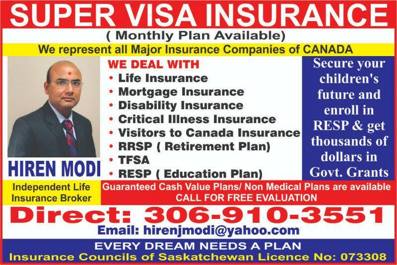 Super Visa Insurance and Visitors Visa Insurance Other ...