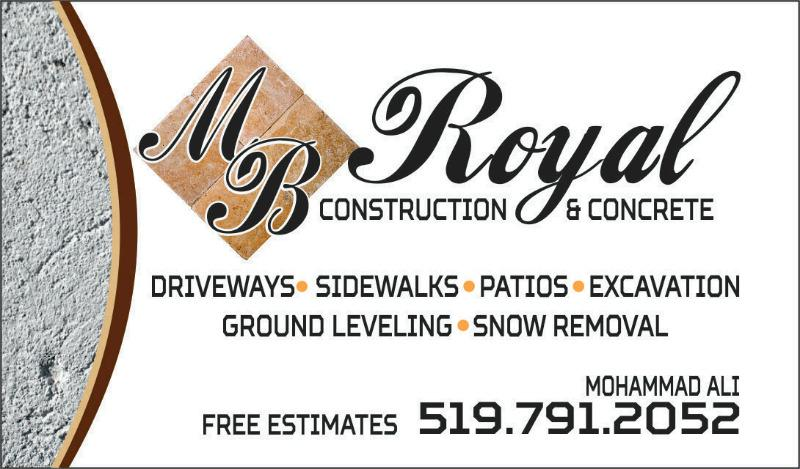 Mb royal CONSTRUCTION Windsor Ontario