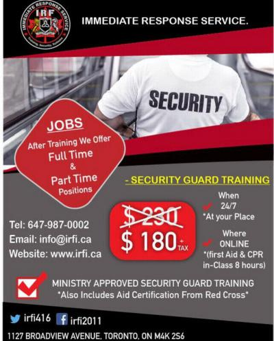 Indian Security Guard Training Courses in Canada