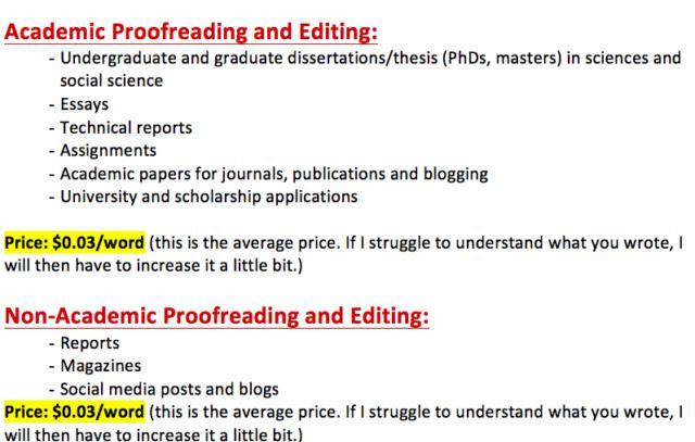 English editing service certificate